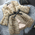 2016 New Genuine Raccoon Fur Jacket Luxury Nature Raccoon Fur Coat Winter Fashion Women Real Fur Outwear Top Quality