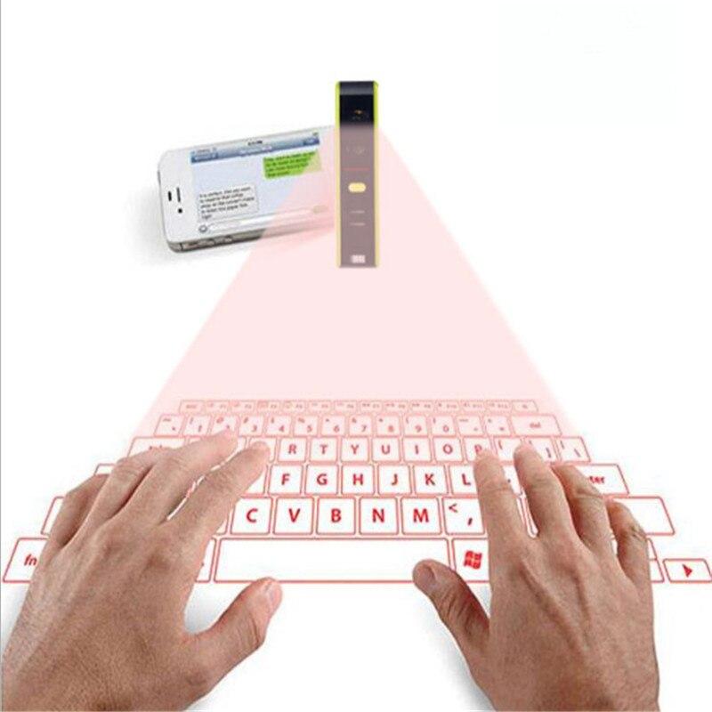 Clavier de Projection Laser rouge KuWFi Mini clavier virtuel Bluetooth sans fil