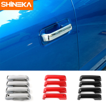 цена на 4pcs Car Sports Racing Door Handle Sticker Decal Styling For FORD FOCUS 2 Focus 3 Mondeo Fiesta Kuga MK2 3 Mustang F150