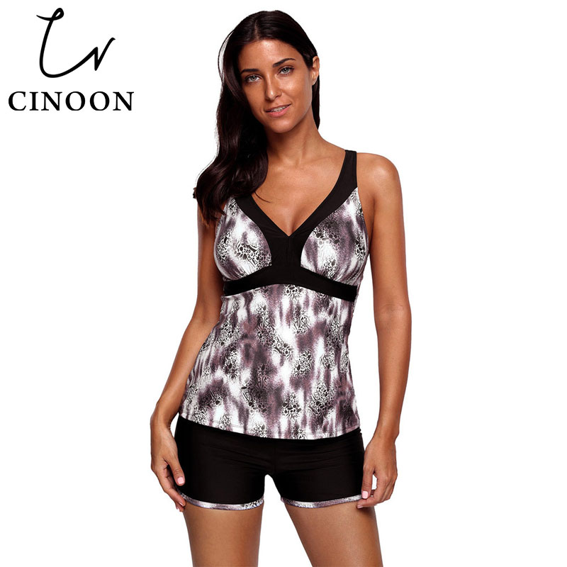 ea600d6750fcc CINOON New large size conservative swimwear cross backless V-neck low waist  split swimwaer without steel support with chest pad