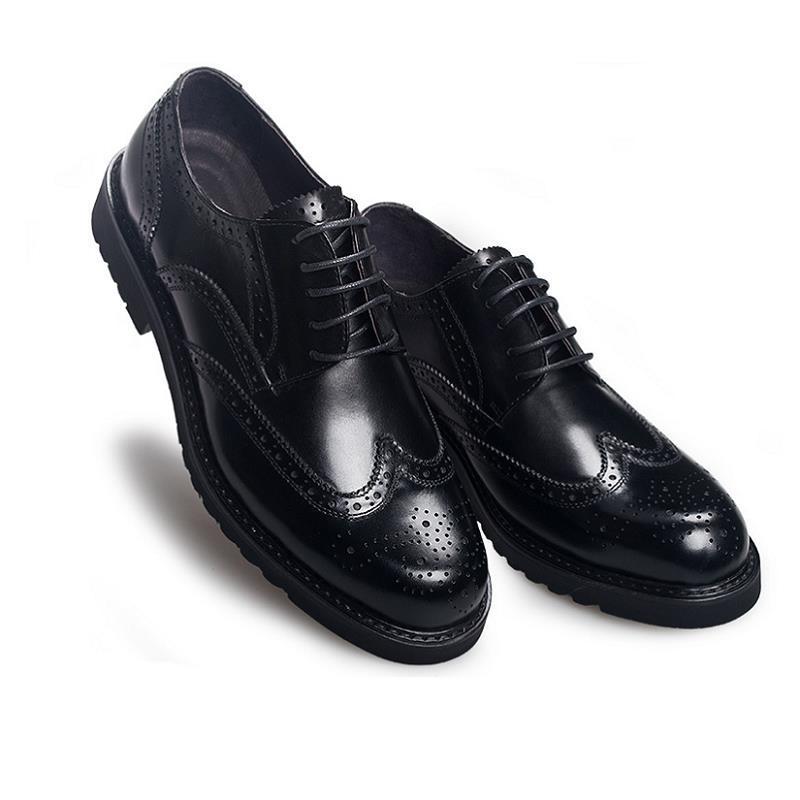 Büro Geschäfts Ayakkabi Leder Schwarzes 100 Für Schuhe Northmarch Kleid Brogue Italienische Männer Echtem Oxford Formalen brown Erkek Klassische Hochzeit aqPwfExI