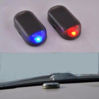 Hot Selling 5PCS Car Led Light Security System Warning Theft Flash Blinking Fake Solar Car Alarm