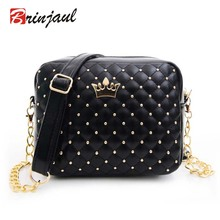 New Rivet Chain Shoulder Bag Designer font b Handbags b font High Quality Shoulder Bag female