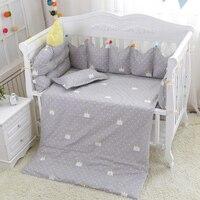 С милым принтом детские кроватки комплект 9 шт./компл. детские постельные принадлежности для кроватки набор включает в себя вставки для кров