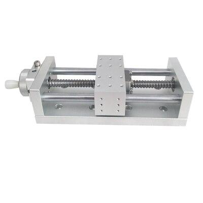 100 200 300mm ball screw Manual Linear Stage translation Stage Translating platformOptical Sliding platform linear rail