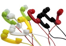 MOONBIFFY Classic Telephone Radiation-proof Spring Cable Handset Receiver Anti-radiation Retro Earphone