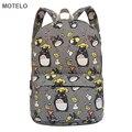 Adorável Totoro Impressão Mochila de Lona Coreano Estilos de Escola Sacos Frete Grátis-B