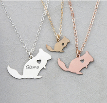 2018 New Arrival Personalized Women Copper Animal Jewelry Squirrel Charm Chinchilla Necklace Accept Drop Shipping YP6351