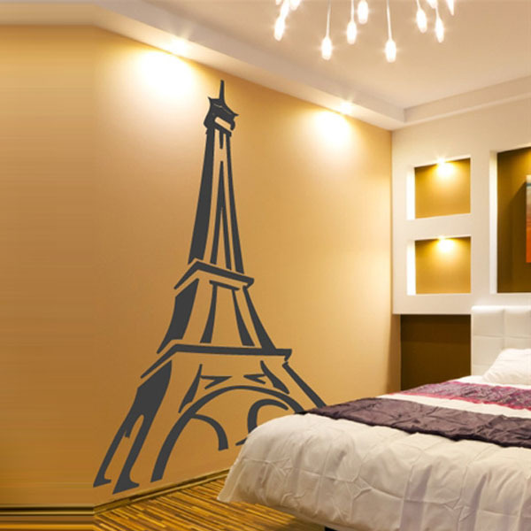 Europe Style Paris with Eiffel Tower Vinyl Wall Decal Stickers Art ...