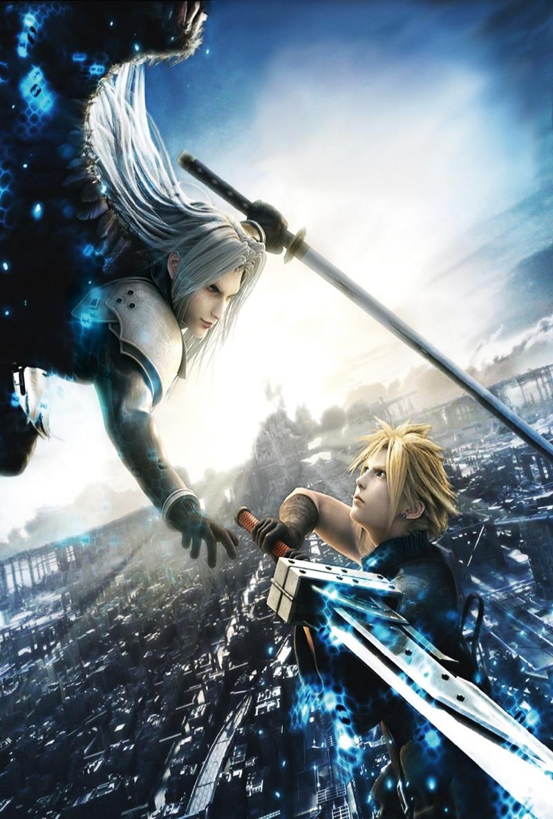 D872 Cloud Vs Sephiroth Final Fantasy FF 7 Game Silk
