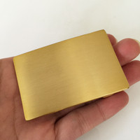 Retail Latest Styles 70 46mm Rectangle Solid Brass Blank DIY Belt Buckle With Men S Leather