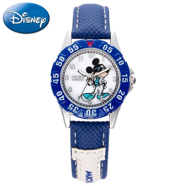 Enfants Sport Mickey Mouse Montre De Dessin Animé Garçon Bleu Noir