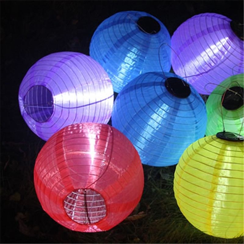 Outdoor LED Solar Lantern Lights Garden Lawn Holiday Wedding New Year Spring Festival Decorative Waterproof Chandeliers Lighting ...