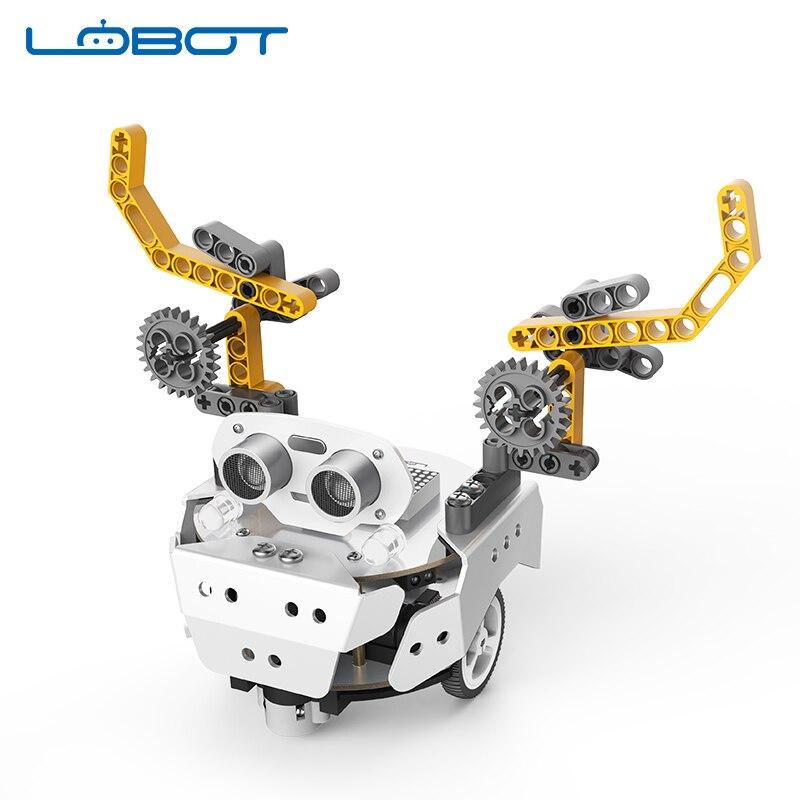 Sratch Robot de programmation Qbot Pro fondateur éducation Robot chariot Compatible avec Arduino/LOBOT