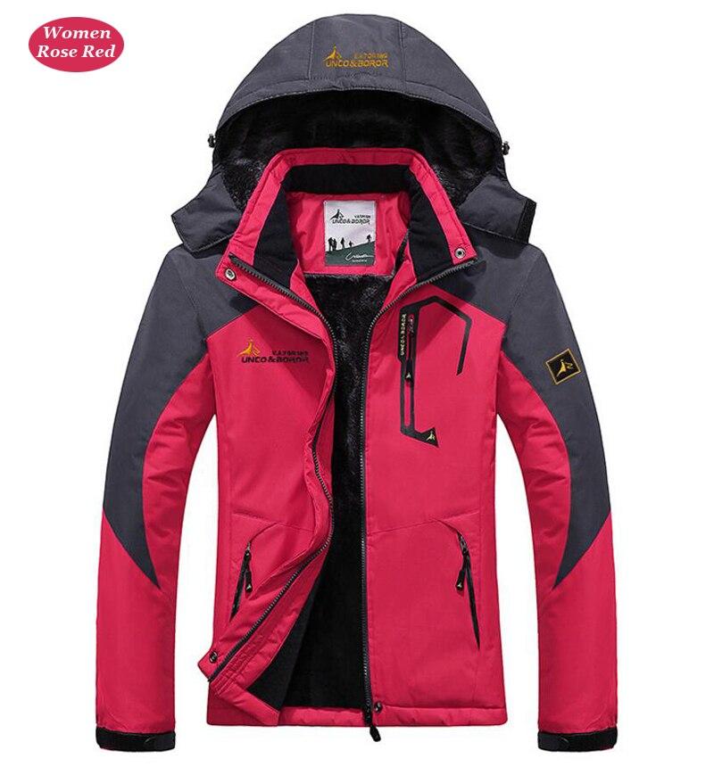 UNCO&BOROR winter jackets men women`s outwear fleece thick warm cotton down coat waterproof windproof parka men brand clothing 21