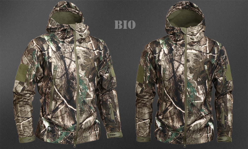 Men's Military Camouflage Fleece Jacket Army Tactical Clothing 60