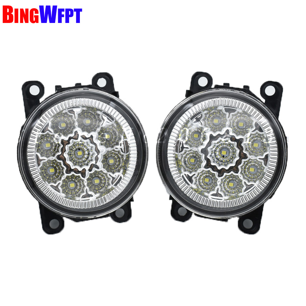 NEW Angel Eyes 1set CCC For OPEL ASTRA H GTC 2005-2015 6710027 Car styling front bumper LED fog Lights high brightness fog lamps for opel astra h gtc 2005 15 h11 wiring harness sockets wire connector switch 2 fog lights drl front bumper 5d lens led lamp