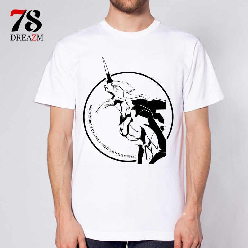 Неоновая футболка genesis evangelion летняя футболка с круглым вырезом и принтом Мужская футболка с принтом Аниме Мужская черная футболка футболки