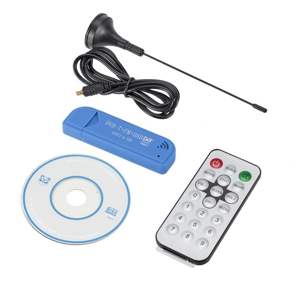 USB TV FM + DAB DVB-T RTL2832U + R820T receptor del sintonizador de la ayuda SDR y DVB-T TVAD tv dongle con antena del receptor