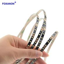 Foxanon – bande lumineuse Led Flexible, Ultra-étroite, 5mm, 3014 SMD 2835, 120 diodes/m, PCB noir, blanc chaud, étanche IP33