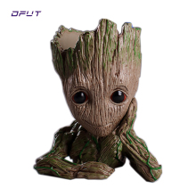 Action Figures Guardians of The Galaxy Groot Flower Pot Baby Cute Model Toy Pen Pot Home Decoration Grootted Doll Tree man marvel galaxy guard 2 groot small tree baby bluetooth audio s box model hand office w07
