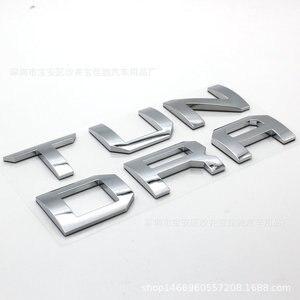 Image 5 - 2 colori 3D Rilievo del Metallo del Distintivo Dellemblema Lettera Inserisci per TOYOTA TUNDRA Portellone 2014 2015 2016 2017 2018 2019 Auto accessori