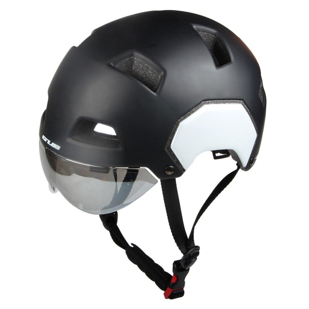 1 pcs Moto Casque Avec Lentille 55-61 cm M/L Mode Style Semi-couverte Vélo Casque solide Équipements De Sécurité Accessoires De Sport - 5