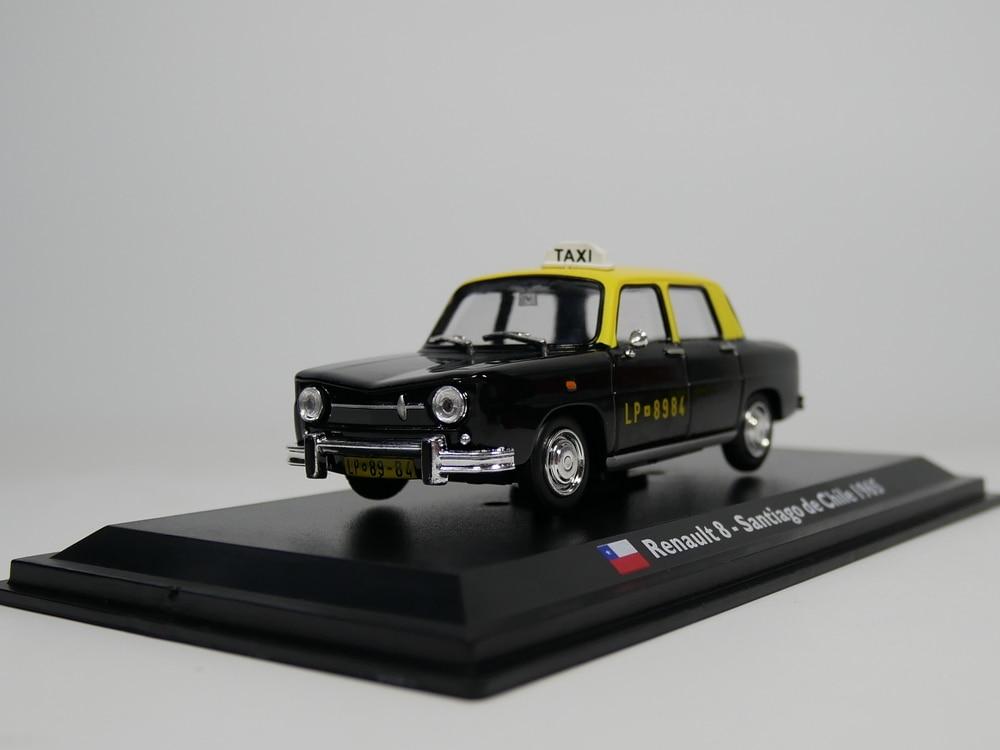 Leo modelo 1:43 Renault 8 1965 Santiago Chile táxi táxi Die-Cast modelo de carro