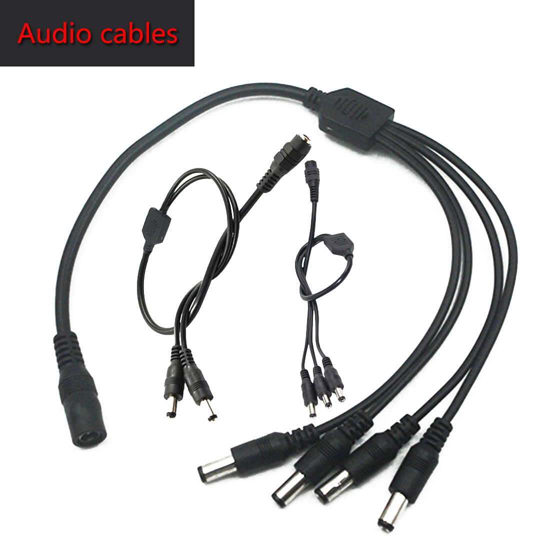 1 DC Female To 2/3/4 Male Plug Power Cord Adapter Connector Cable Splitter for LED Strip Security Camera