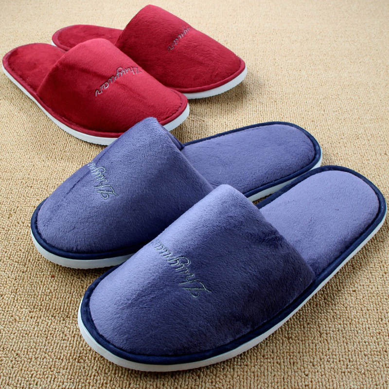 Casual Couple Home Shoes New Women Indoor Slippers For Men Winter Warm Coral Fleece Plush Pantofole Hotel Chinelos Homem Pantufa купить
