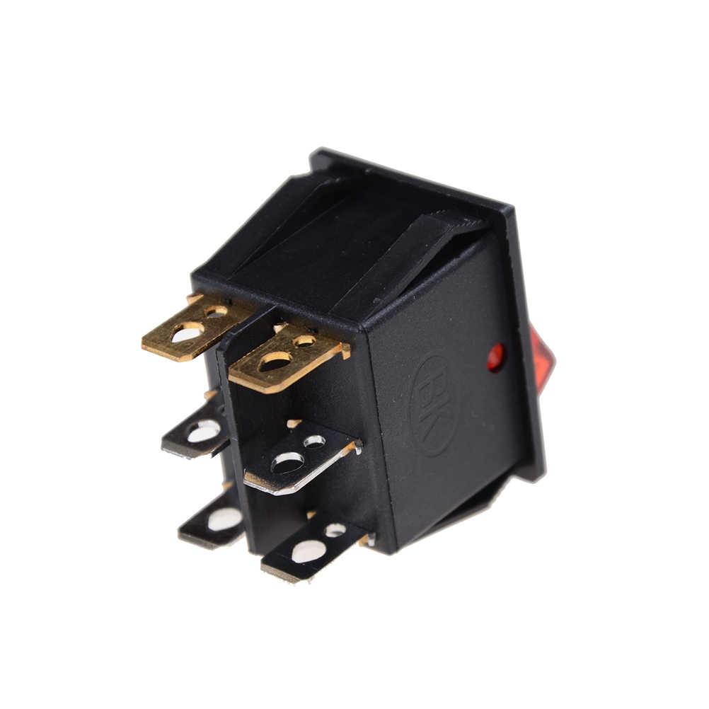 KCD4 Doppel Boot Rocker Schalter 6 Pin Auf-Off Mit Grün Rot Licht 16A 125/250VAC Boot Schalter