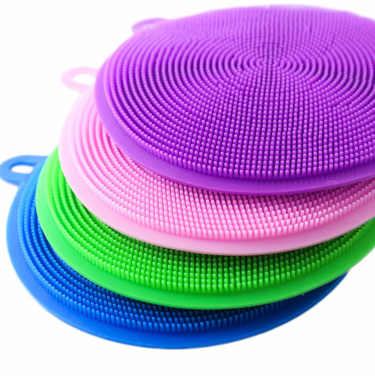 Image 2 - Silicone Cleaning Brush Dishwashing Sponge Multi functional Fruit Vegetable Cutlery Kitchenware Brushes Kitchen Tools-in Sponges & Scouring Pads from Home & Garden