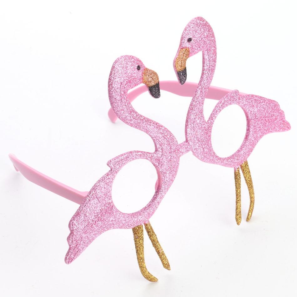 Komik Pembe Flamingolar Parlak Gözlük Doğum Günü Kostüm Partisi - Tatiller ve Partiler Için - Fotoğraf 6
