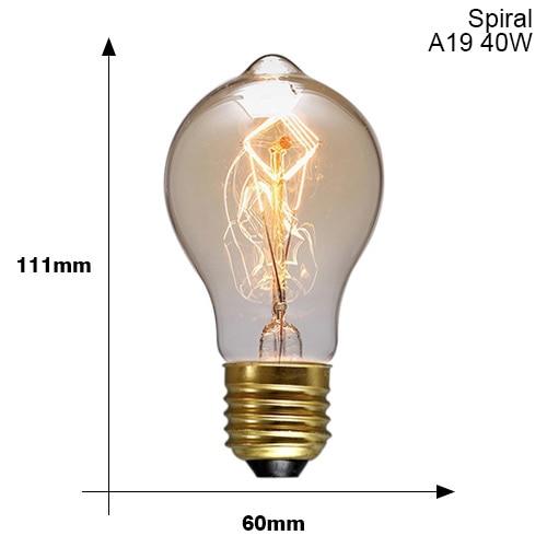 Винтажные подвесные светильники E27 патрон лампы 110V 220V винт переключения установки e27 Цоколи лампы Ретро держатель лампы edison - Цвет: E27 A19 40W