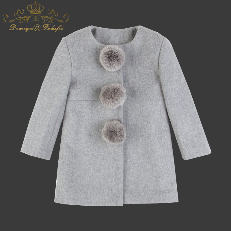 2018 brand Thicken Girls Jackets Autumn Winter Girl Jacket Fashion Clothing Woolen Coat Baby Girl Warm Casual Outerwear For Kids a15 girls jackets winter 2017 long warm duck down jacket for girl children outerwear jacket coats big girl clothes 10 12 14 year