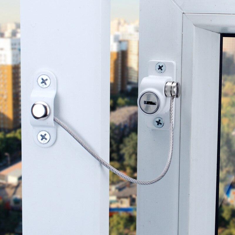 Children Window Lock Restrictor Cabinet Locks & Straps Baby Safety Lock Kids Safety Protection Window Stopper Child Lock