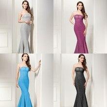 Evening Dress 2017 SoDigne Sexy Slim Lange Abendkleider Golden Mermaid Prom Dress Backless Party Gown