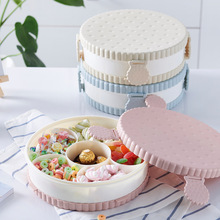 5/6 Grids Plastic Storage Box with Lid Candy Nuts Organizer Snacks Container Desktop Food Storage For Wedding Home Party