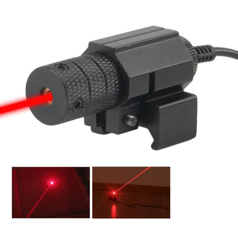 Tactical red dot Red Laser Sight With Tail Switch Scope Lengthen Rat Tail Hunting Optics