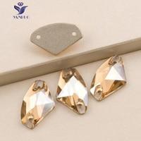 YANRUO 3256 Galatic Cristal Golden Shadow Coudre Sur Strass Pierres Et Cristaux Verre Strass Pour Robe Or Perles
