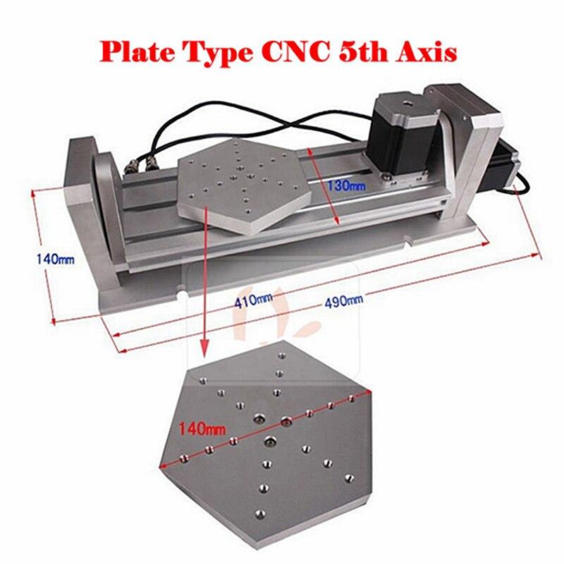 Disque à plaque à 5 axes (A aixs, axe rotatif) pour routeur à CNC