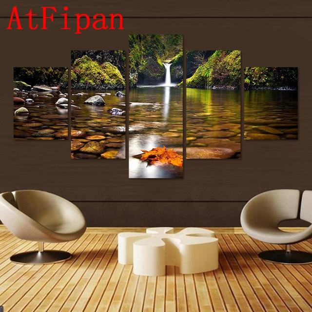 Atfipan Ohne Rahmen Wandkunst Modularen Bilder Wasserfall Fluss