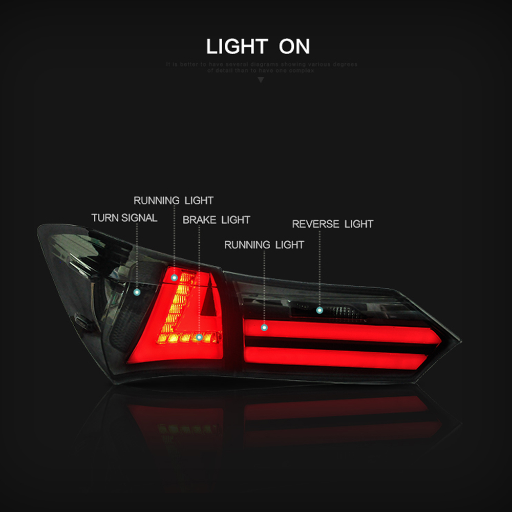 Image 3 - LSlight For Corolla 2014 2015 2016 2017 2018 2019 LED Tail Light Assembly lights Bulb Lamp Running Lights Stop Brake Turn Signal-in Car Light Assembly from Automobiles & Motorcycles