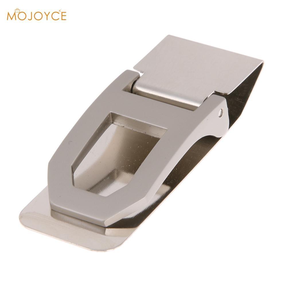 все цены на 2018 Stainless Steel Money Clip Business Card Credit Card Cash Wallet Money Clip Cash Clamp Holder Portable онлайн