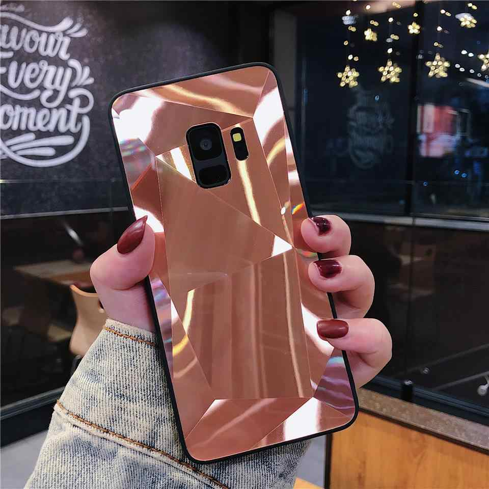 3D Bling Phone Cover for Samsung Galaxy S7 Edge S8 S9 Plus Note 8 9 A8 A7 A6 2018 Case Hard Diamond Texture Back Full Protective