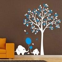 Большой Настенный стикер со слоном  1 5 м  для детской комнаты  украшения  наклейки на стену  детские наклейки для детских садов  художественн...