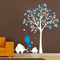 Large 1.5M Elephant Tree Wall Sticker For Nursery Kids Room Decoration Wall Stickers Kids Nursery Home Decals Art Mural D 52