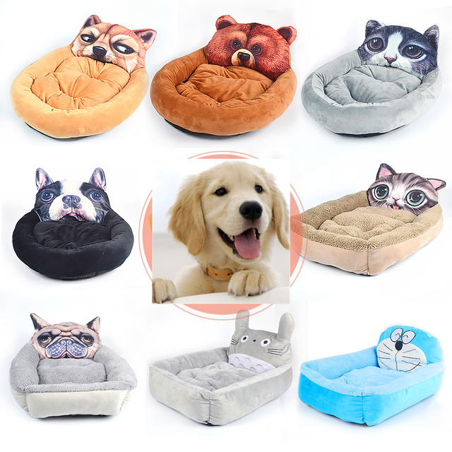 US $18 84 |Funny Cat Dog Emoji Pet Beds Mats Teddy Pet Dog Sofa Puppy Cat  Bed Kennel House Decorative Big Blanket Cushion Basket Supplies-in Houses,