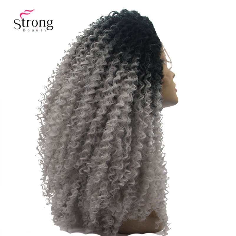 Ombre Gray 2 Tones Synthetic Lace Front Wig (2)