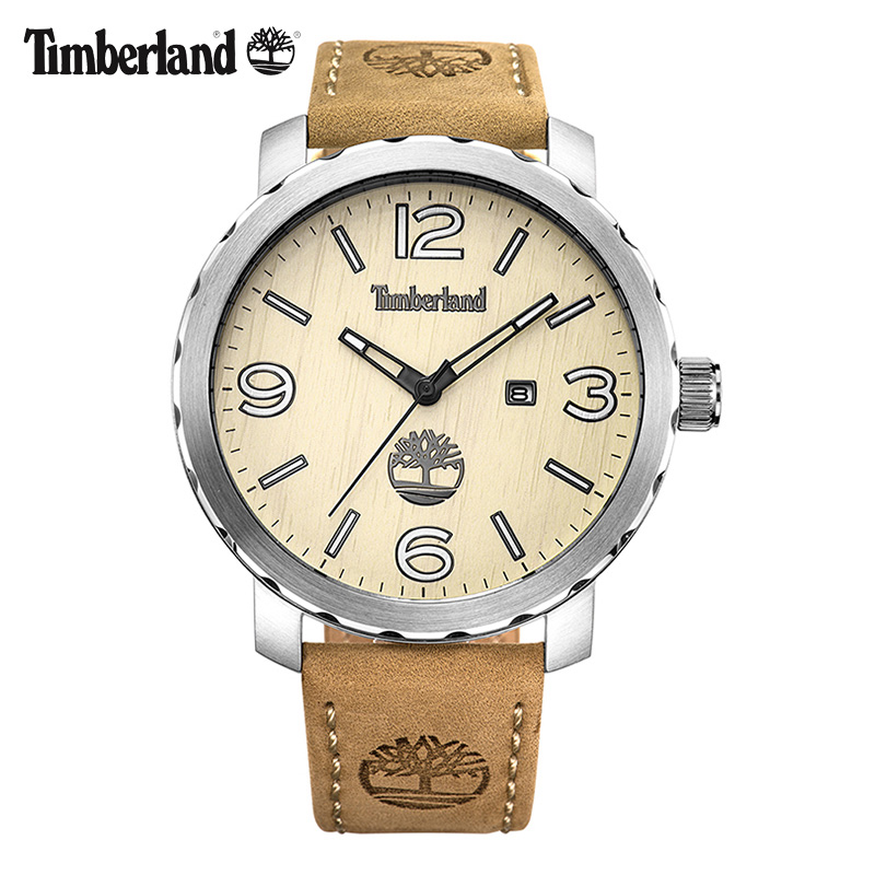 Timberland Mens Watches  Leather Casual Quartz Calendar Waterproof to 330 Feet Men Watch T14399